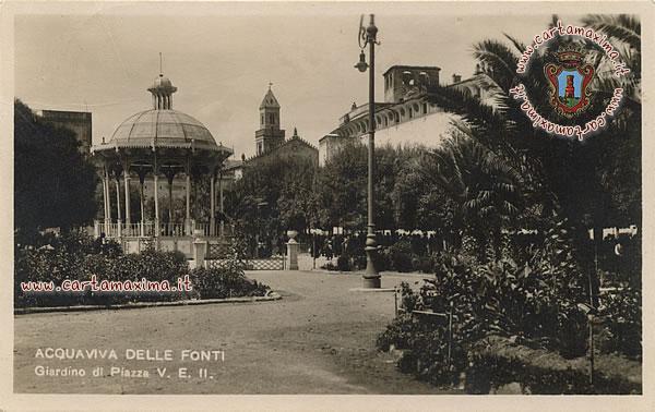 Acquaviva delle fonti giardino di piazza v e ii da for Monolocale arredato acquaviva delle fonti
