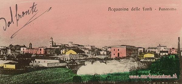 Saluti da acquaviva delle fonti da cartolina d 39 epoca for Monolocale arredato acquaviva delle fonti
